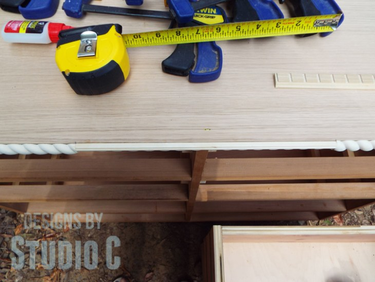 Repair the Top of a Dresser and Add Pieced Trim to the Edges - Centered Front Trim