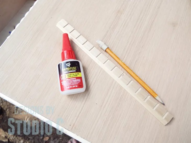 Repair the Top of a Dresser and Add Pieced Trim to the Edges - Trim & Adhesive