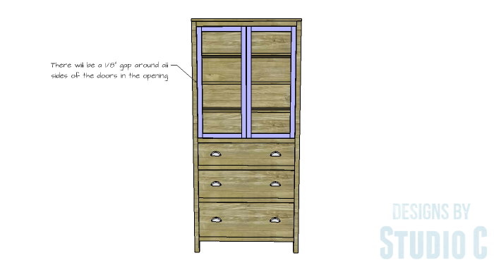 DIY Furniture Plans to Build a Hemnes Inspired Glass Door Cabinet - Doors 3