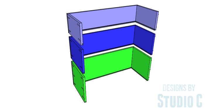 DIY Furniture Plans to Build a Hemnes Inspired Glass Door Cabinet - Drawer Box 2