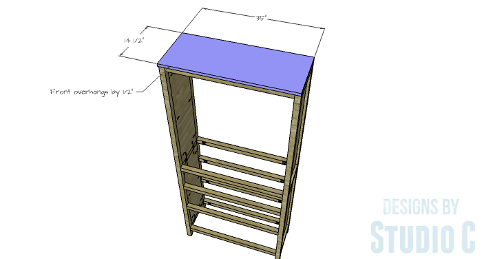 DIY Furniture Plans to Build a Hemnes Inspired Glass Door Cabinet - Top