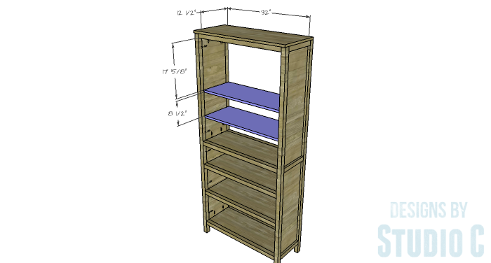 DIY Furniture Plans to Build a Hemnes Inspired Glass Door Cabinet - Upper Shelves