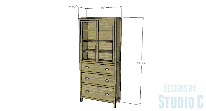 DIY Furniture Plans to Build a Hemnes Inspired Glass Door Cabinet