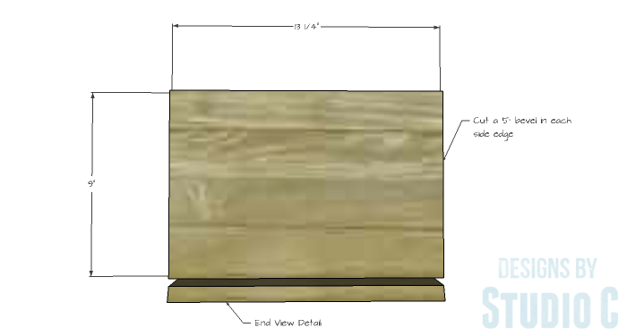 DIY Furniture Plans to Build an IKEA Inspired Selje End Table - Bottom 1