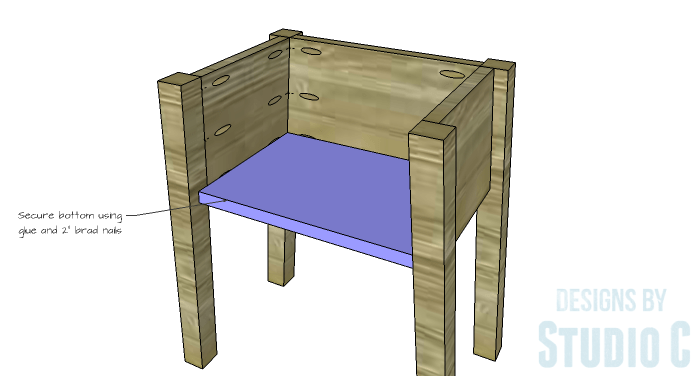 DIY Furniture Plans to Build an IKEA Inspired Selje End Table - Bottom 2