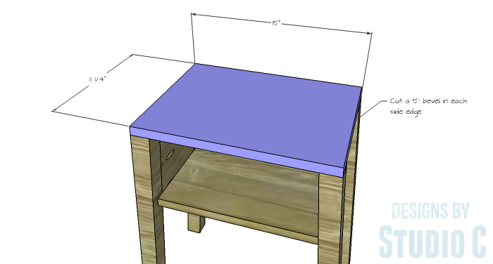DIY Furniture Plans to Build an IKEA Inspired Selje End Table - Top