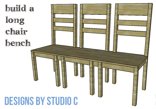 DIY Furniture Plans to Build a Long Chair Bench - Copy