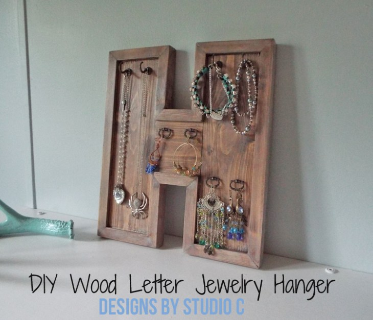 Build a DIY Wood Letter Jewelry Hanger