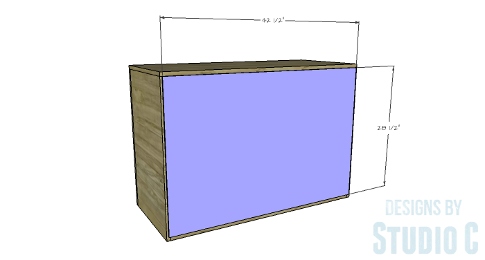 DIY Furniture Plans to Build a Stackable Cabinet - Back