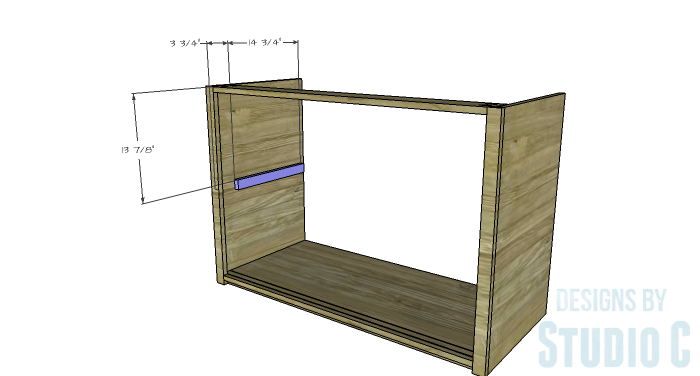 DIY Furniture Plans to Build a Stackable Cabinet - Shelf Supports 1