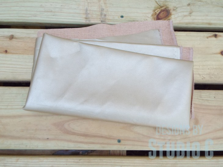 DIY Furniture Plans to Build an Upholstered Bench with Tapered Legs - Fabric