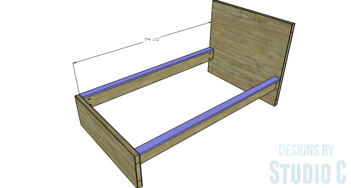 Free Furniture Plans to Build a DIY Ikea Inspired Malm Twin Bed - side-rail-2