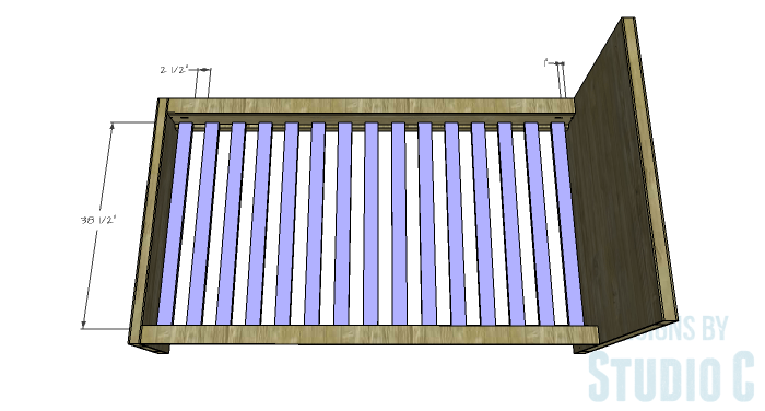 iFree Furniture Plans to Build a DIY Ikea Inspired Malm Twin Bed - slats