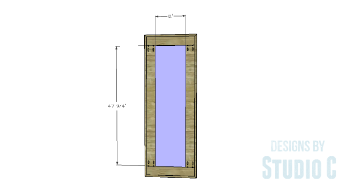 DIY Furniture Plans to Build a Simple Mirror Frame -back