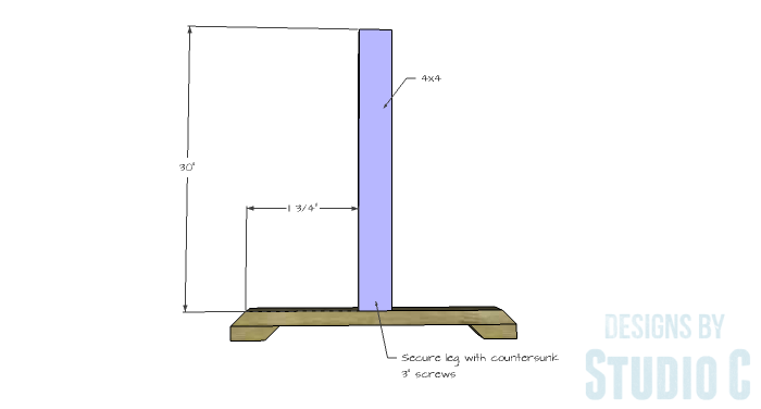 DIY Furniture Plans to Build a Ballard Designs Inspired Tatum Trestle Counter Table-leg