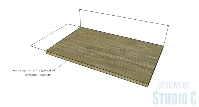 DIY Furniture Plans to Build a Ballard Designs Inspired Tatum Trestle Counter Table-top-1