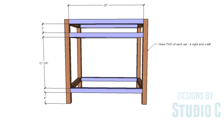 DIY furniture plans to build a Cuszco Console Table_Outer Frame Connectors