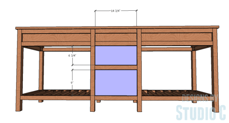 DIY furniture plans to build a Cuszco Console Table_Drawer Fronts