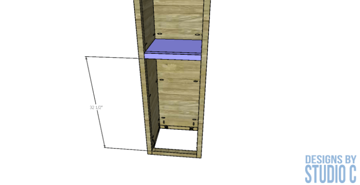 diy-furniture-plans-build-bathroom-linen-tower_drawer-shelf-installation