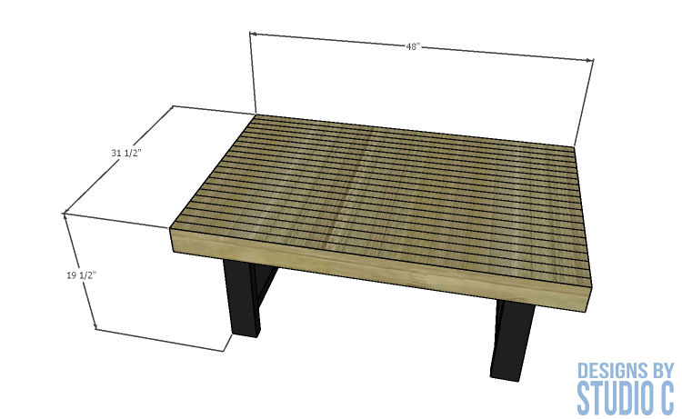 Merveilleux DIY Furniture Plans Build Pottery Barn Inspired Griffin Coffee  Table_Dimensions