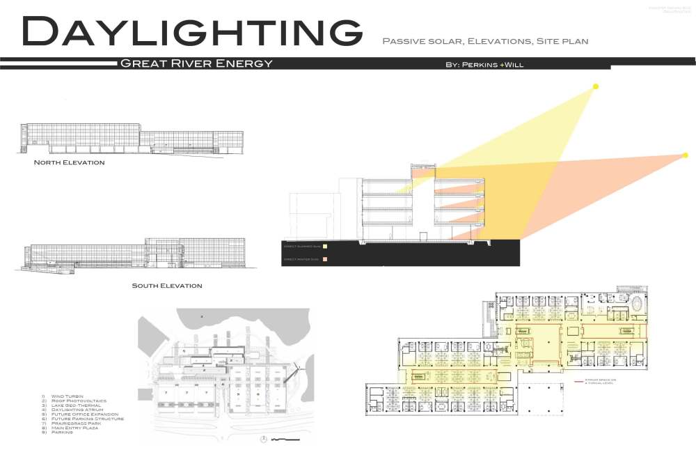 medium resolution of check this example of a building section with sunlight analysis