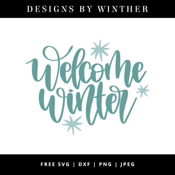 Free Winter Svg Dxf & Design Winther