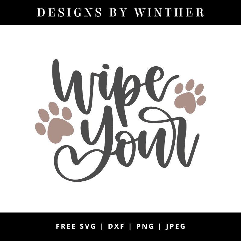 Download Free Wipe your paws SVG DXF PNG & JPEG - Designs By Winther