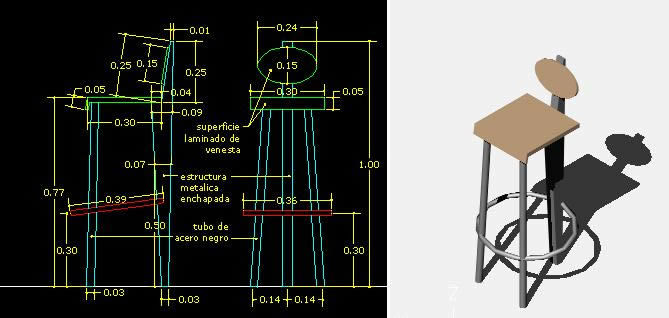 modern wood chair plans jehs laub lounge replica bar stool with short back details and dimensions 3d dwg model for autocad • designs cad