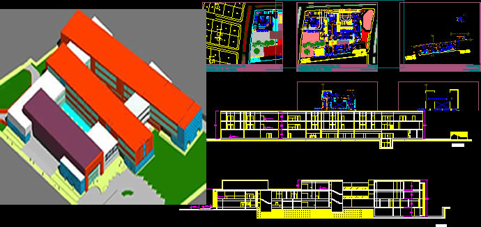 General Hospital 2D3D DWG Full Project For AutoCAD