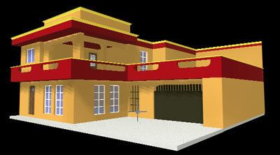 2 Storey House 3d Dwg Model For Autocad Designs Cad