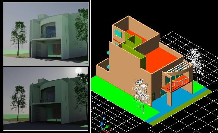 3d Electrical Plan Housing Two Plants 3d Dwg Model For Autocad Designs Cad