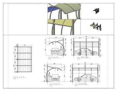 Parasol Car And 3D DWG Model for AutoCAD • Designs CAD