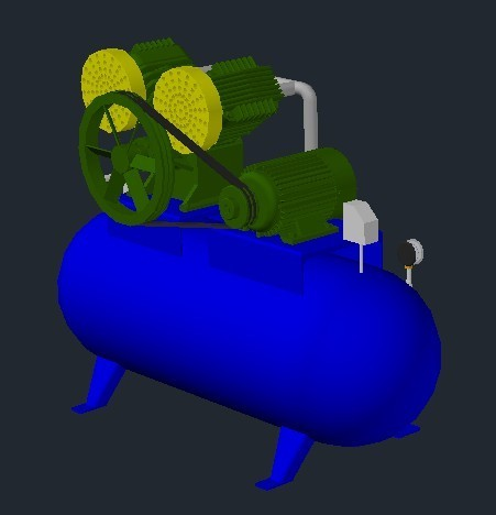 Air Compressor 3d Dwg Model For Autocad Designs Cad