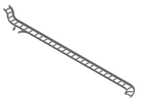 Aluminum Cable Tray Power And Voice DWG Block for AutoCAD