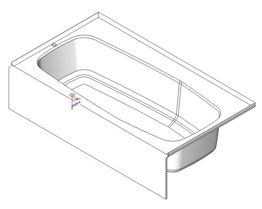 Bath 3D DWG Model for AutoCAD