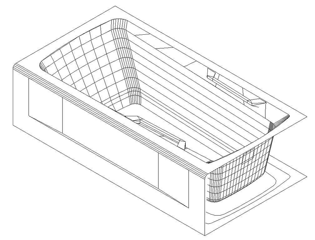 Bathtub 3D DWG Model for AutoCAD • Designs CAD