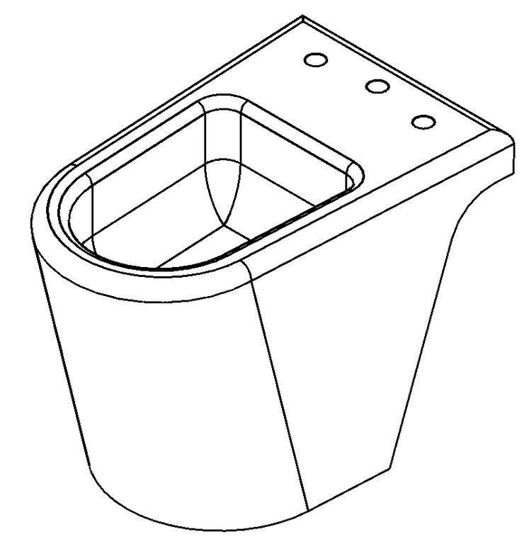 Bidet 3D DWG Model for AutoCAD • Designs CAD