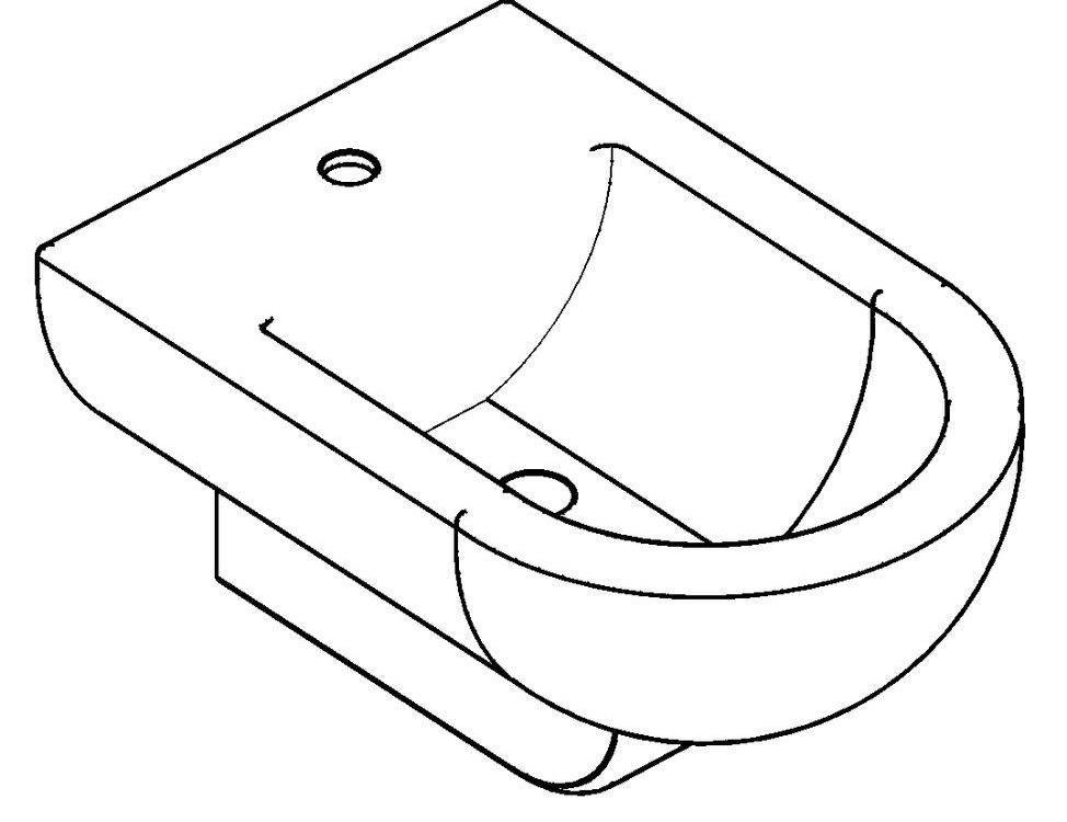 Bidet 3D DWG Model for AutoCAD