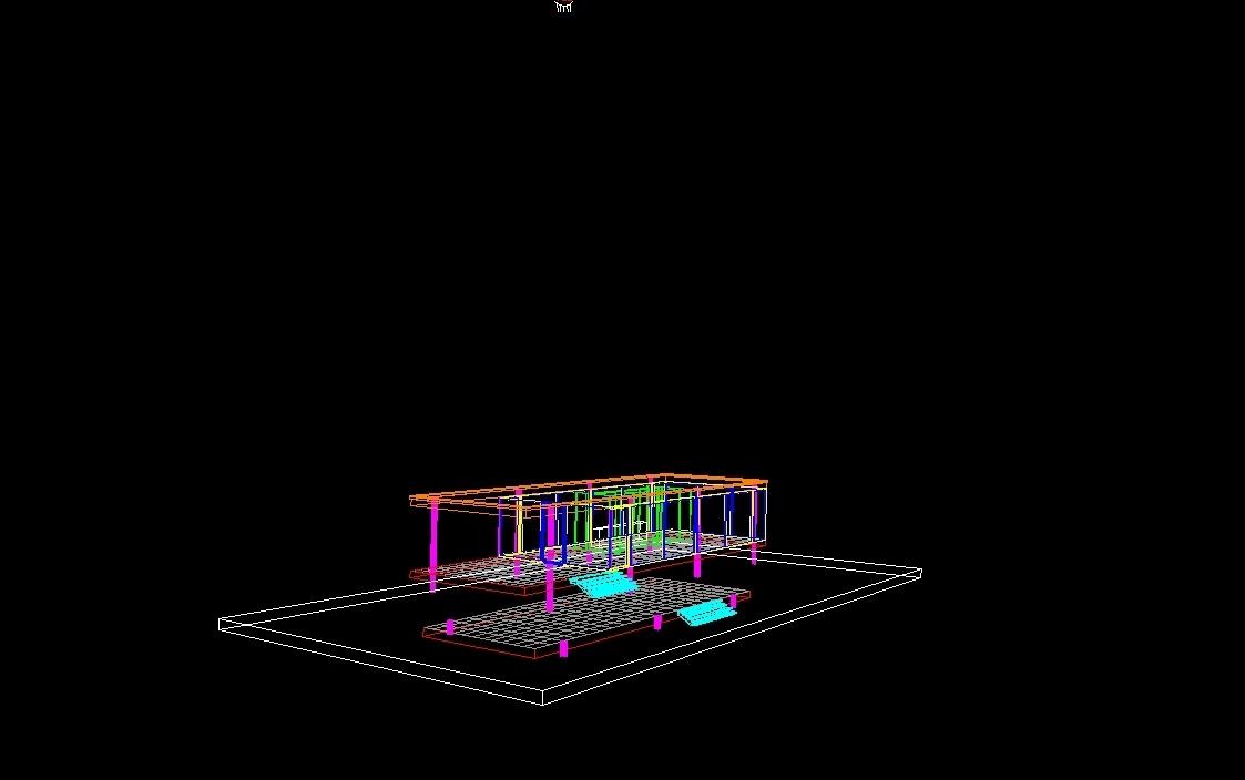 Casa Farnsworth DWG Block for AutoCAD  DesignsCAD