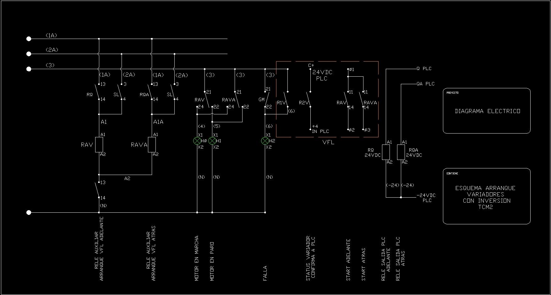 electric car diagram directv swm 5 lnb dish wiring diagramas elÉctricos dwg block for autocad • designs cad