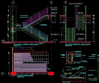 Steel Staircase With Metal Staircase Details DWG Detail ...