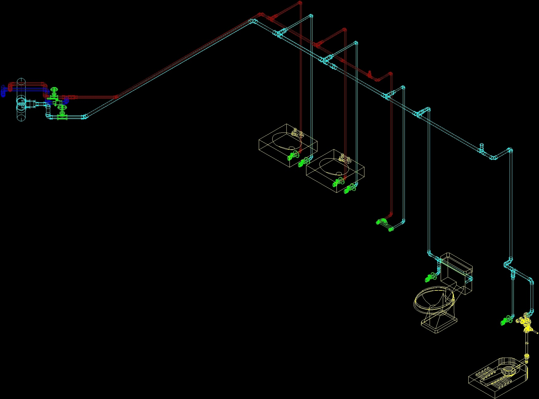 Toilet Water Supply Detail DWG Detail For AutoCAD