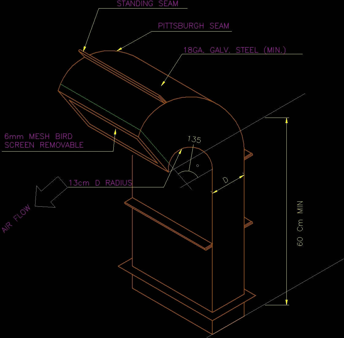 Gooseneck DWG Detail for AutoCAD  Designs CAD