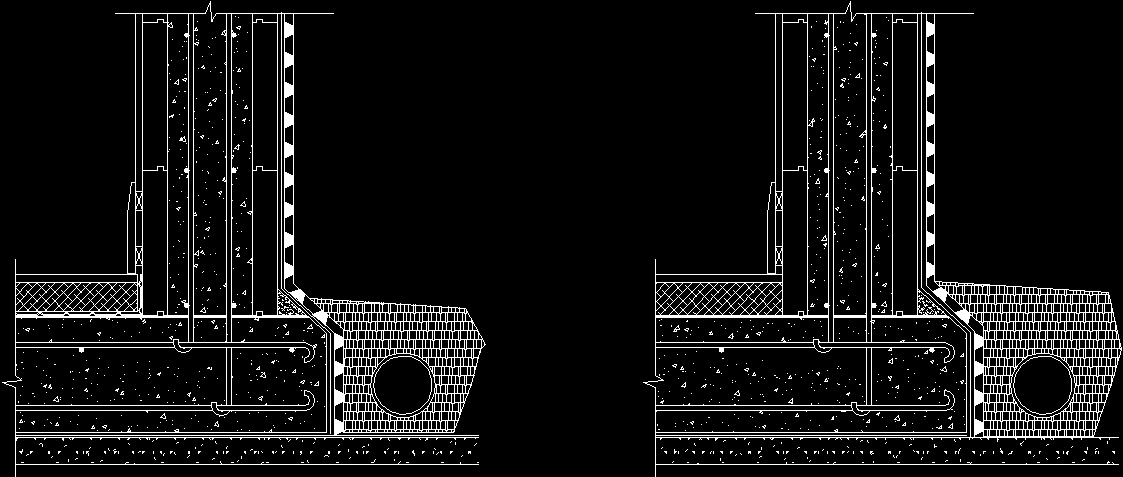 Basement Waterproofing Dwg Detail For Autocad • Designs Cad