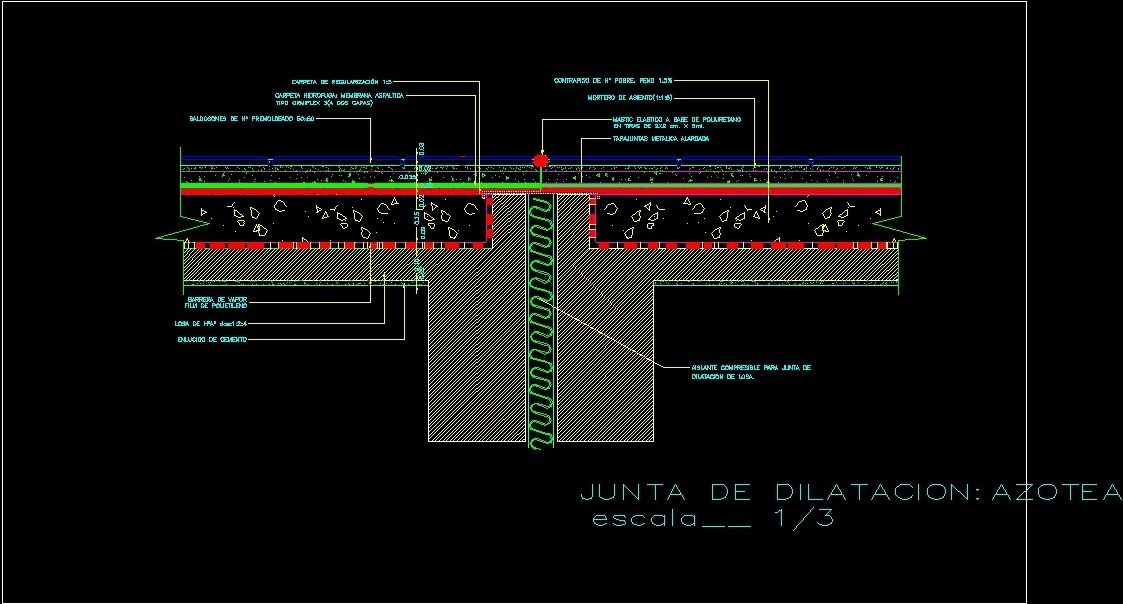 Detail Expansion Joint At Terrace DWG Detail for AutoCAD