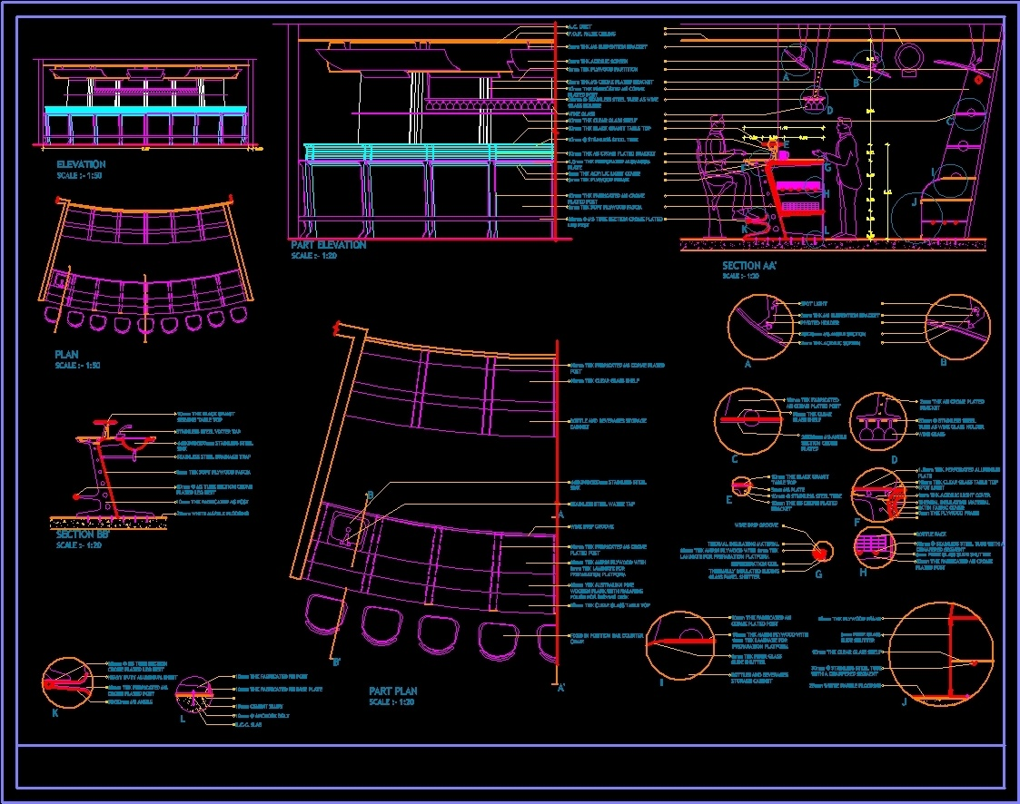 Bar Counter DWG Section For AutoCAD Designs CAD