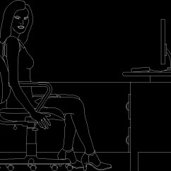 Office Chair Elevation Cad Block Vintage Wingback Of Furniture 2d Dwg For Autocad