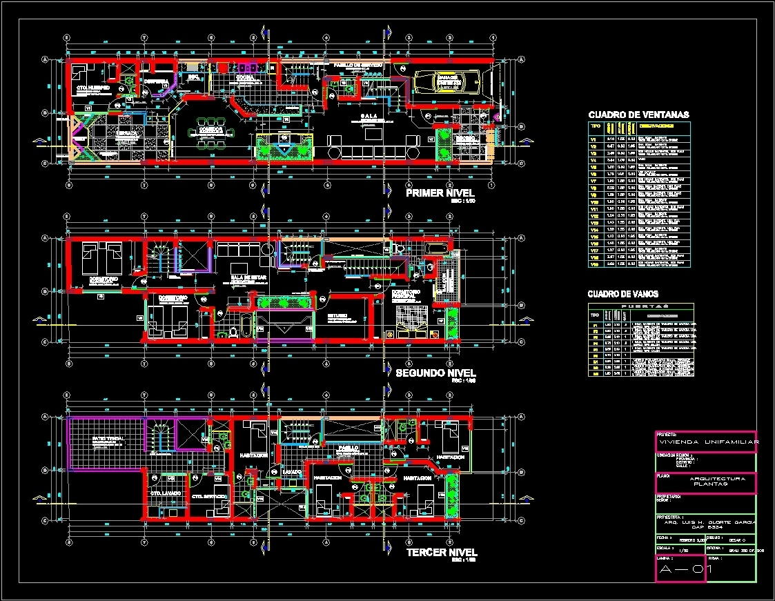 Single Family DWG Plan for AutoCAD  Designs CAD