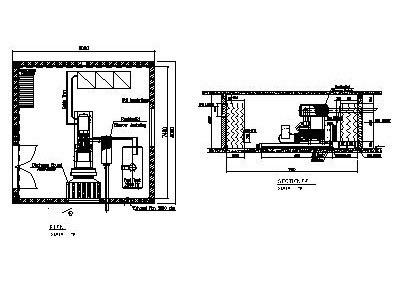 GENSET ROOM 600KVA • Designs CAD
