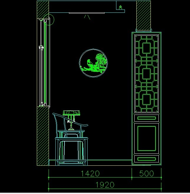 Architectural Section With Lattice Style Partition 2D DWG Section For AutoCAD  Designs CAD